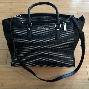MICHAEL KORS LIMITED EDITION STUDDED SOFT LEATHER